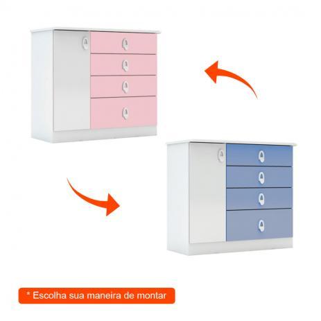 Cômoda Infantil Inocencia 1 Porta e 4 Gavetas   - Batrol