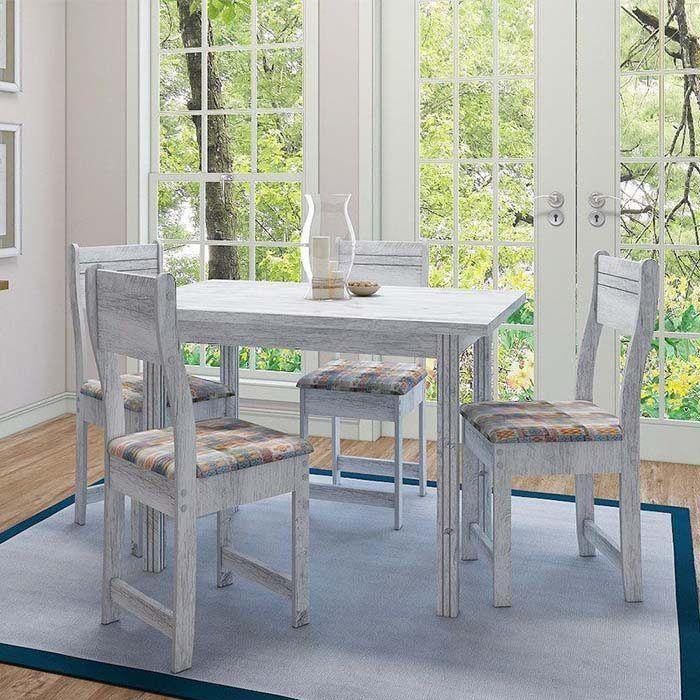 Conjunto de Mesa e 4 Cadeiras Dallas Plus - Indekes