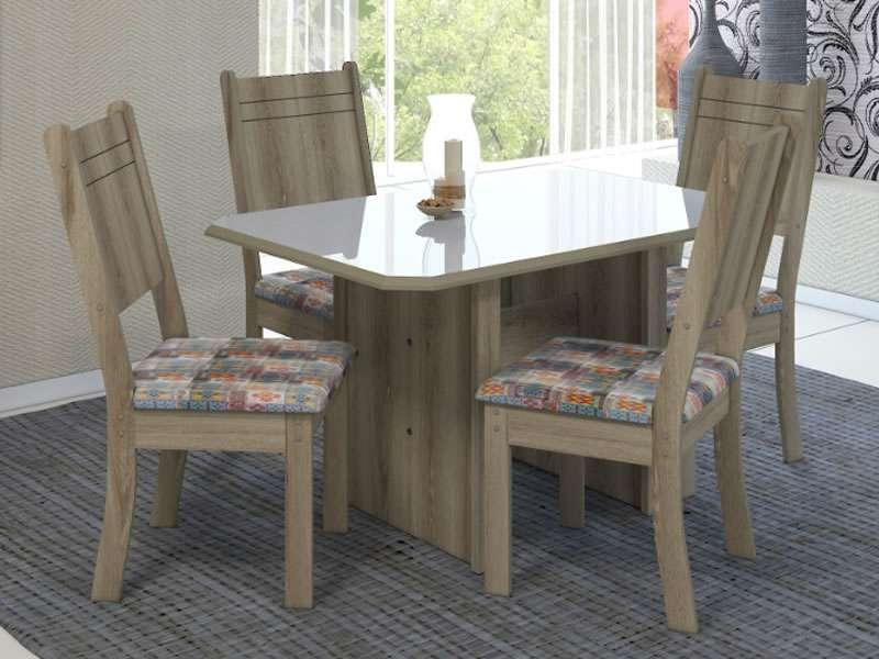 Conjunto de Mesa New Charm com 4 Cadeiras - Indekes