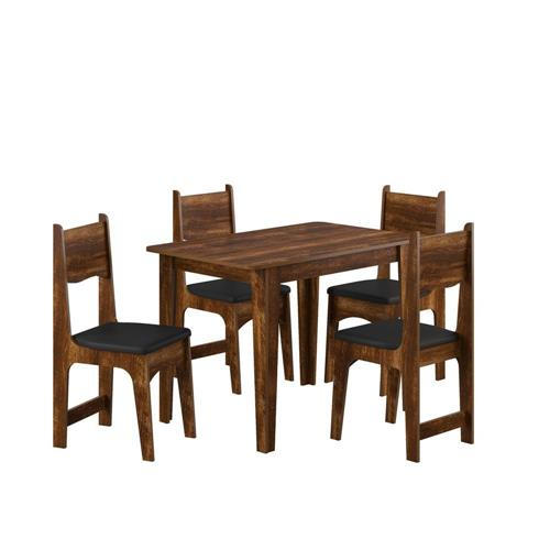 Conjunto de Mesa Pérola e 4 Cadeiras Nicoli - Sonetto