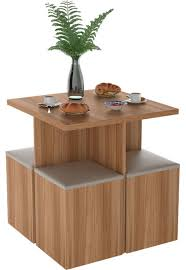 Conjunto Sala de Jantar com Mesa e 4 Banquetas Appunto
