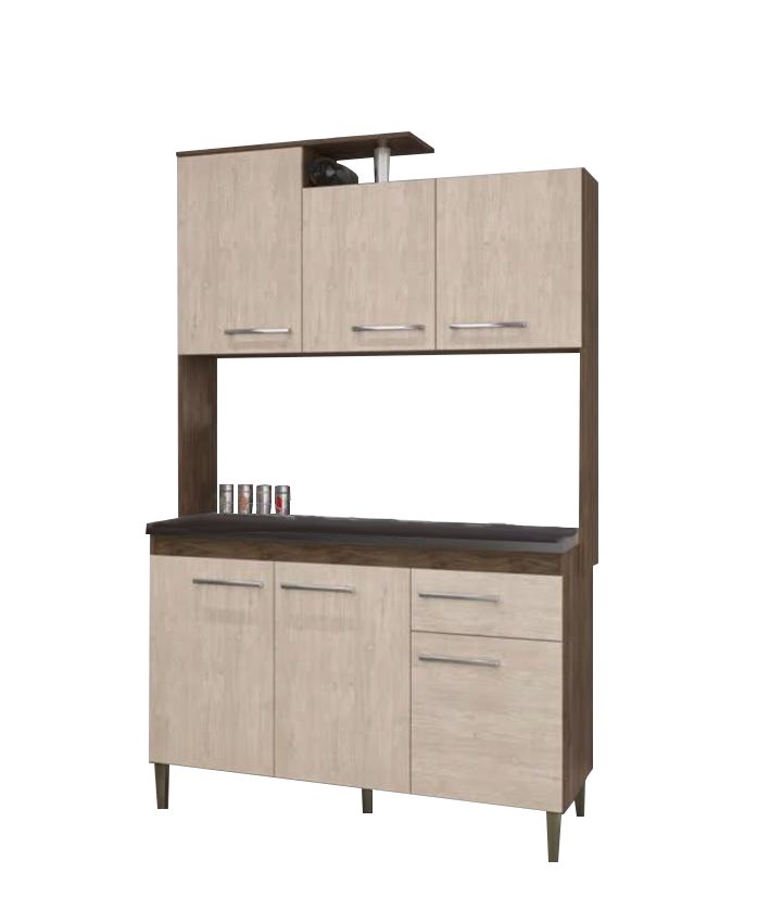 Cozinha Compacta Maia 6 Portas 1 Gaveta - Arte Cass