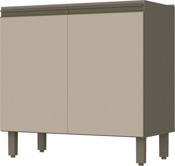 Cozinha Modulada Connect 1 com 11 Peças 100% MDF com Vidro e Nicho - Henn