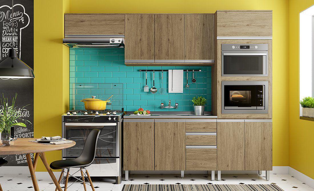 Cozinha Modulada Integra 2 -  4 Peças Rústico - Henn