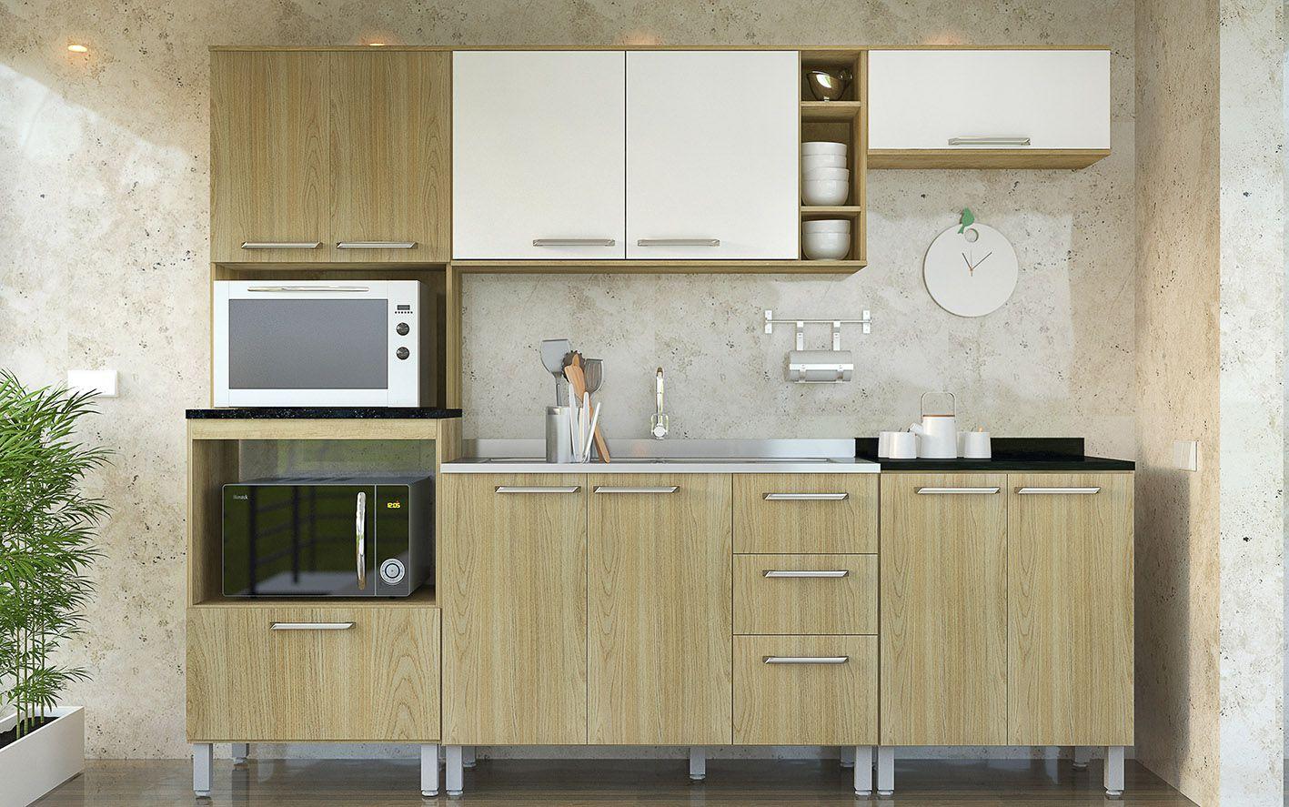 Cozinha Modulada Lara 1 - 5 Peças com Nicho - Luciane