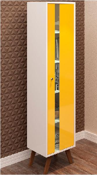 Cristaleira Retrô  1 Porta com Pés Palito  - Art Cas
