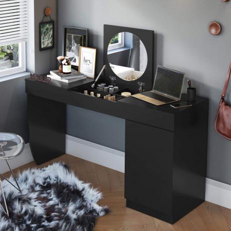 Escrivaninha Penteadeira com Espelho Crystal - Belaflex