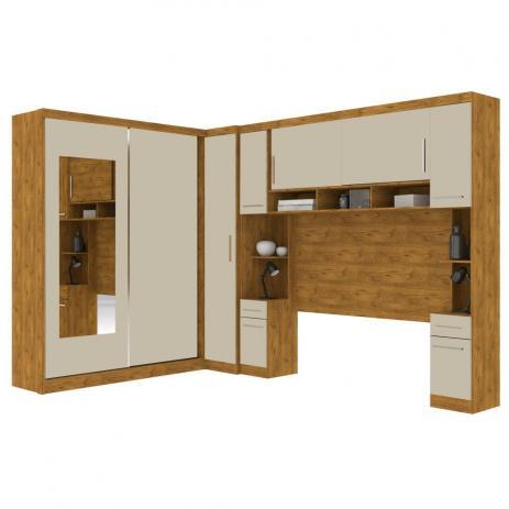 Guarda Roupa Modulado Casal Milão 9 Portas com Espelho - Robel