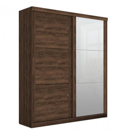 Guarda Roupa Prático 2 Portas de Correr com Espelho - Robel