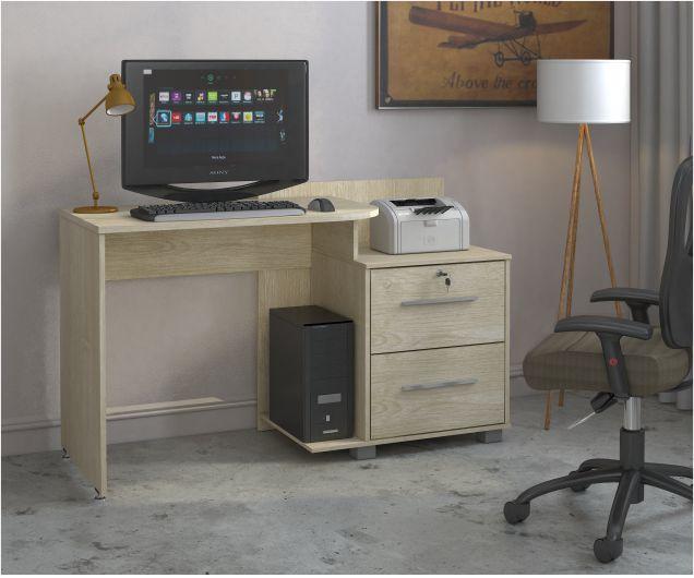 Escrivaninha Home Office Atlanta Plus com 2 Gavetas - Mira Rack