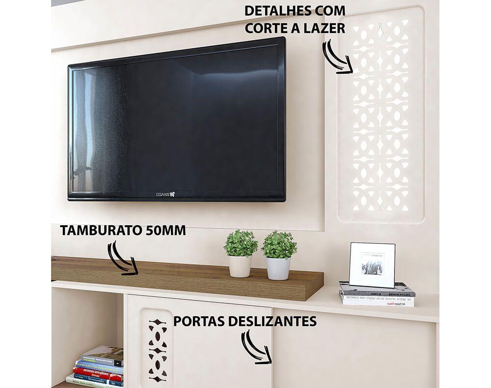 Estante Home Artely Summer TV Até 55 Pol 2 Portas  - Artely