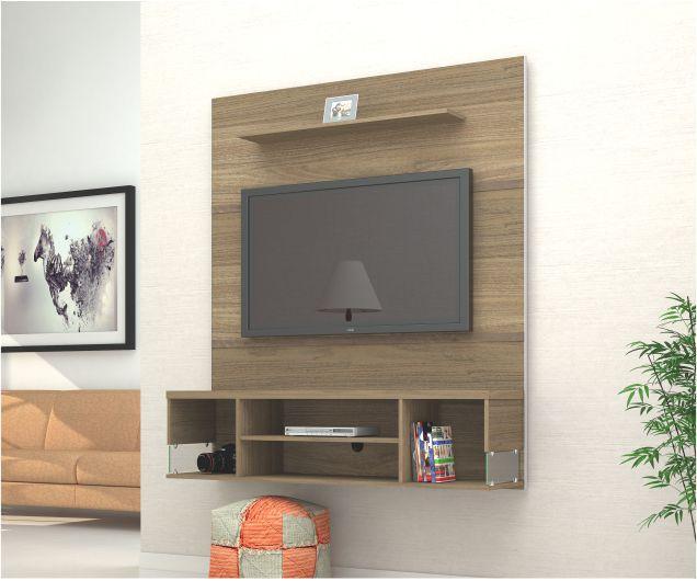 """Home Suspenso Arezo Plus Para Tv até 50"""" com Prateleira e Vidro  - Mira Rack"""