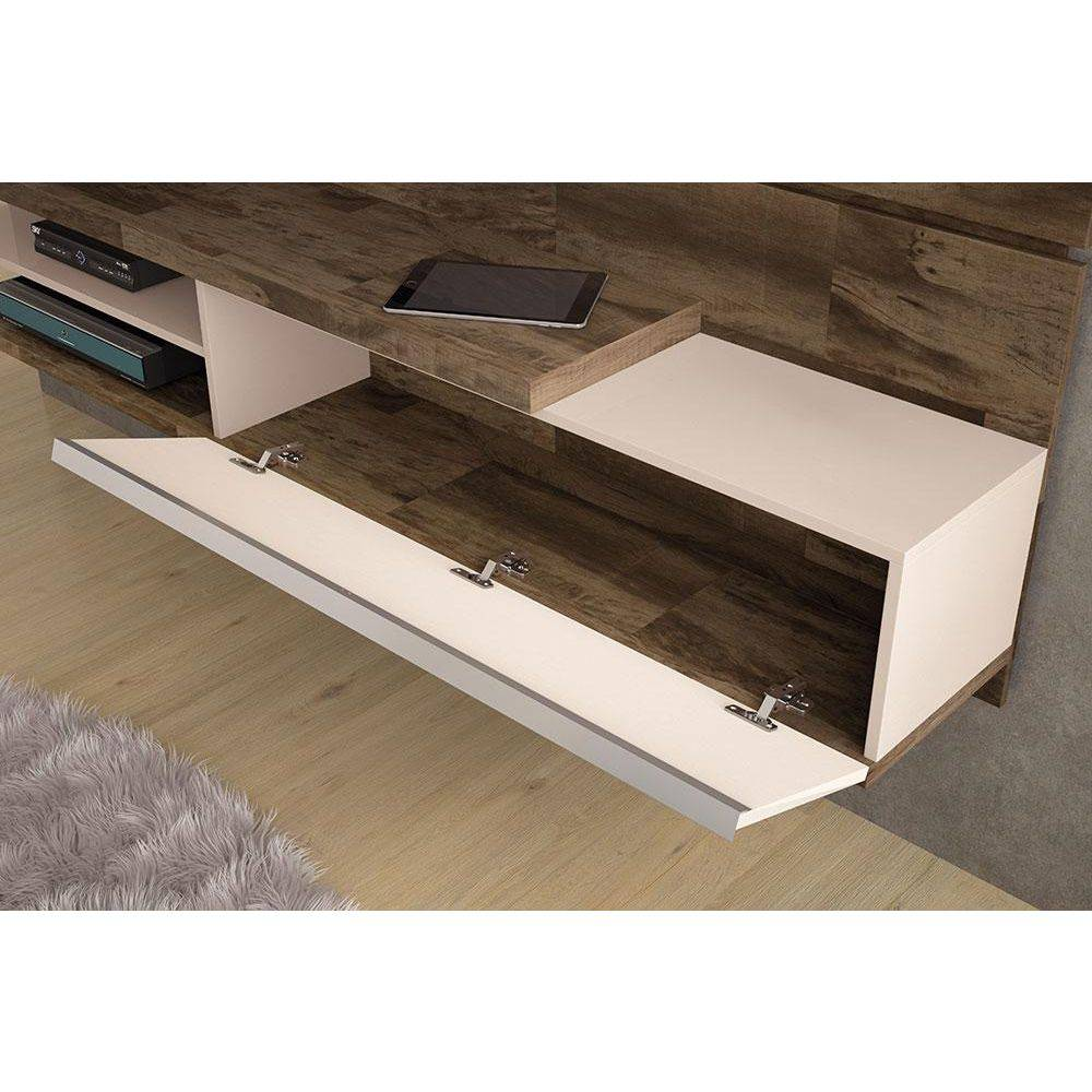 "Home Suspenso Destak  Para Tv até 55"" Deck Off White - Hb moveis"