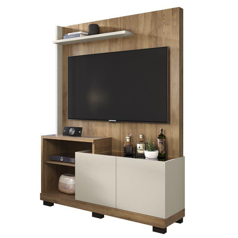 Home Theater Sofine Para TV Até 55 Polegadas - Buriti / Off White - Caemmun