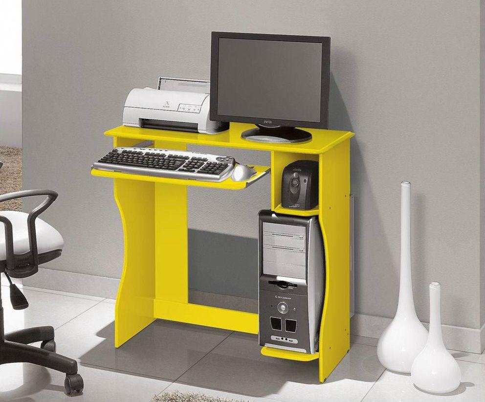 Escrivaninha/Mesa de Computador Lívia com 2 Nichos - EDN