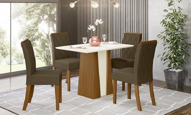 Mesa de Jantar 4 Cadeiras Orus - Henn