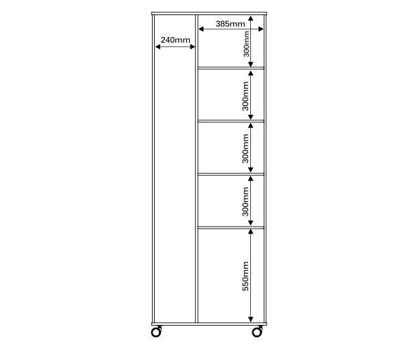 Armario Multiuso Roma Plus 2 Portas - Mira Rack