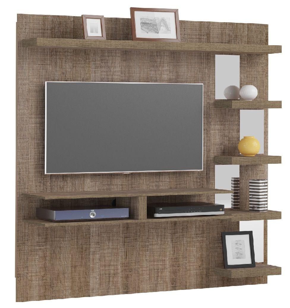 Painel Premium para TV até 47 Polegadas 5 Prateleiras com Espelho - Artely