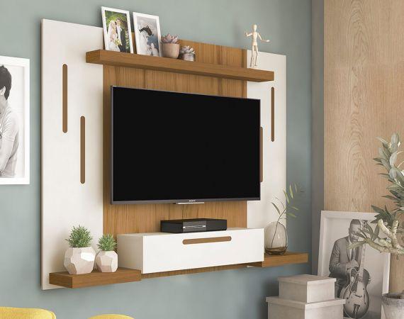 Painel Cronos para TV 50 Polegadas 1 Porta 1 Prateleira - Artely