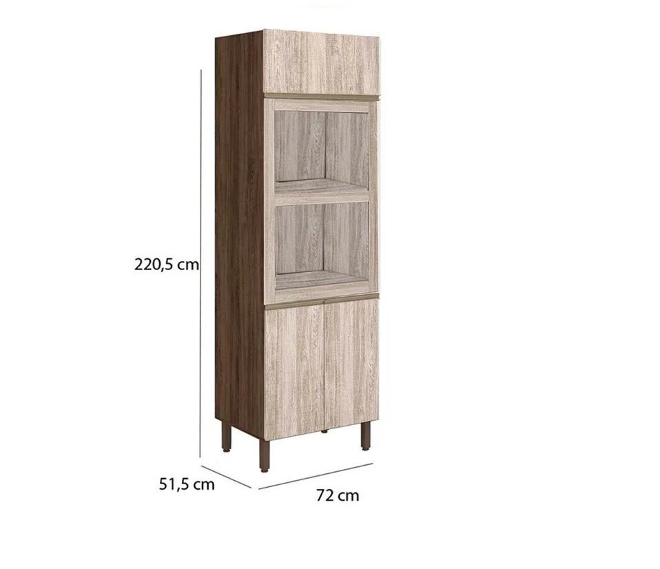 Paneleiro de Cozinha Torre Quente  70cm Kali - Nicioli