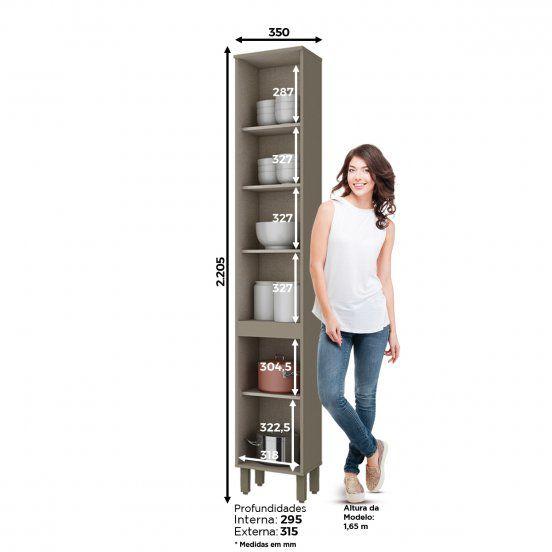 Paneleiro Modulado 2 Portas 35cm Connect Henn