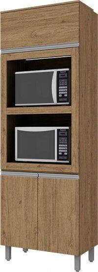 Paneleiro Torre Quente Modulado 3 Portas 02 Fornos 71cm  Integra - Henn