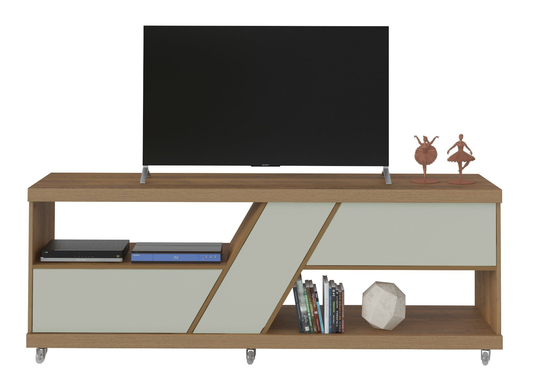 "Rack Best para Tv até 47"" 1 porta e 2 Gavetas - Artely"