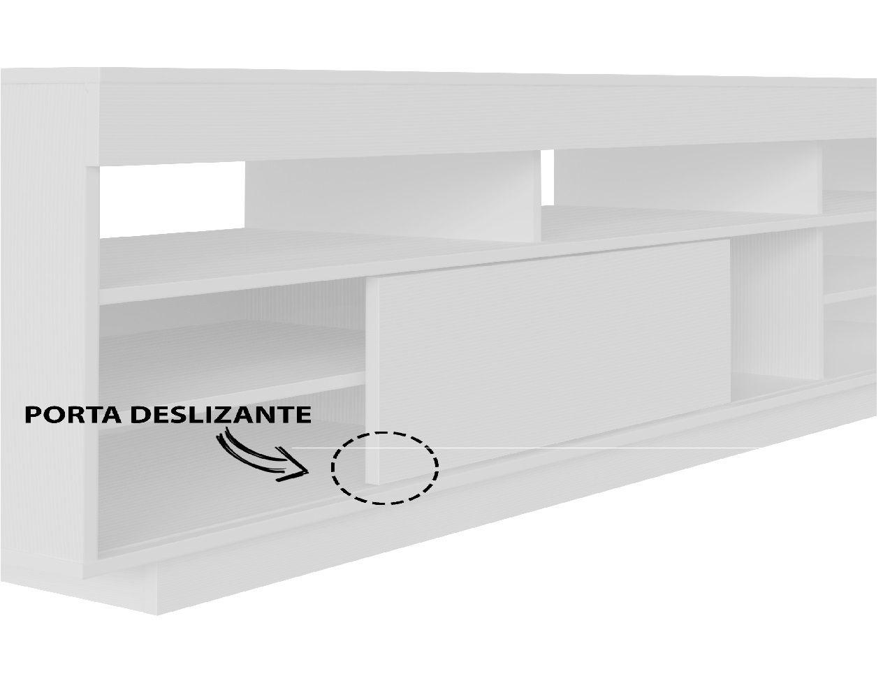 Rack Treviso para TV até 47 Polegadas 1 Porta de Correr - Artely