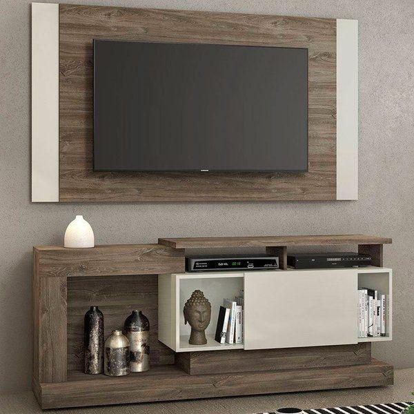 """Rack e Painel NT 1065 Para Tv até 42"""" Polegadas  - Canela/Areia - Notável"""