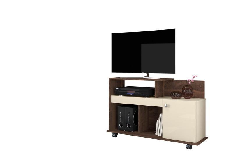 """Rack Flash Para Tv Até 32"""" Polegadas Madero/Off White - Belaflex"""