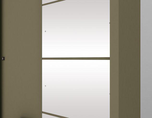 Guarda Roupa Alegro 2 Portas Deslizantes 3 Gavetas com Espelho  - Henn