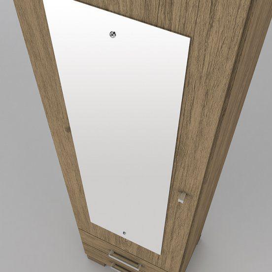 Armario Multiuso Sapateira Leon 01 Porta Espelho - Henn
