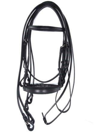 Cabeçada de Adestramento 4 Rédeas Black Horse