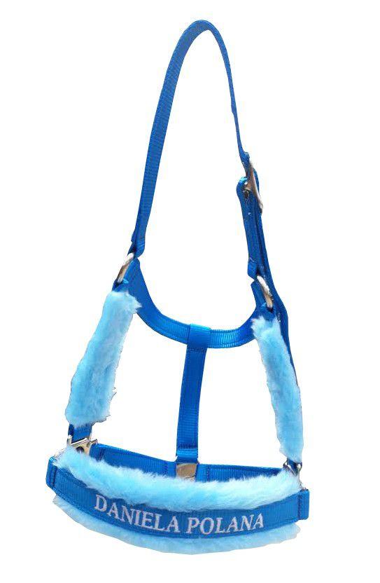 Cabresto Personalizado Luxo (Azul Claro)