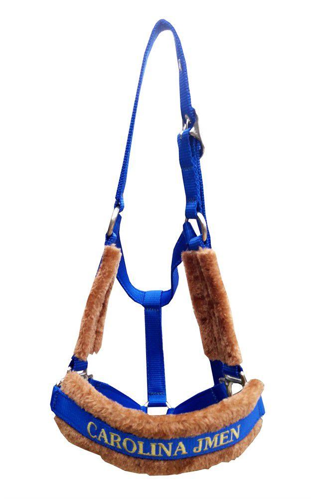 Cabresto Personalizado Luxo (Azul Royal )