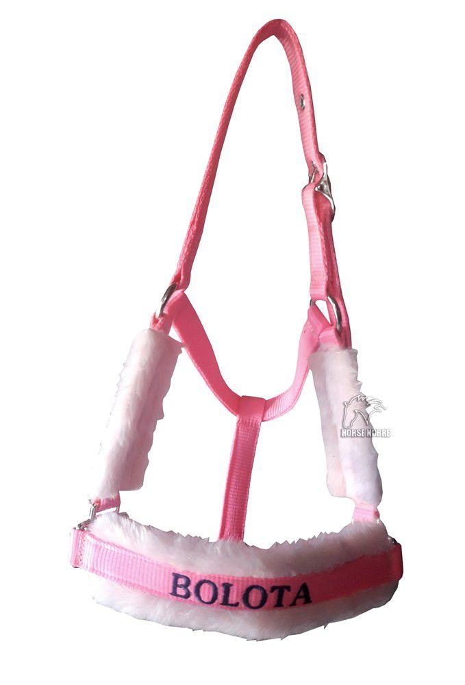 Cabresto Personalizado Luxo (Rosa Claro )