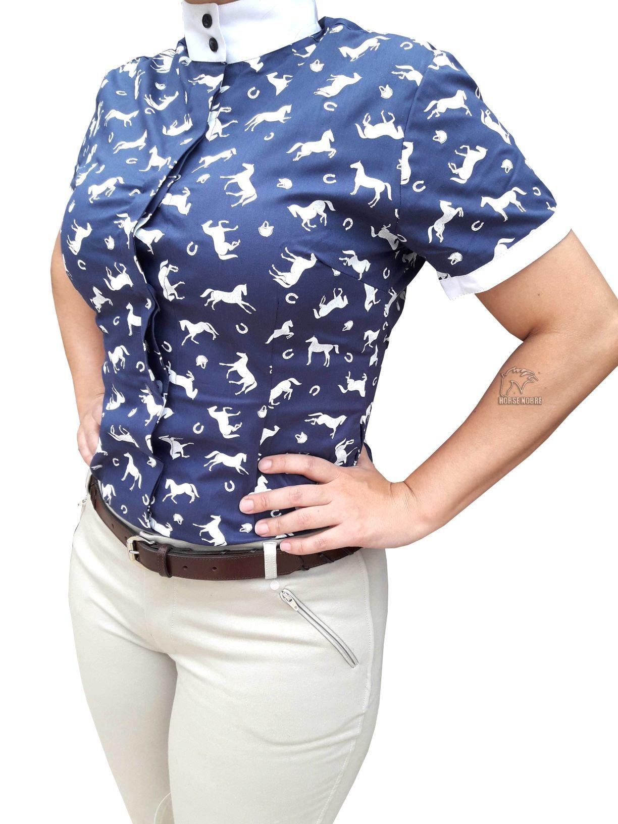 Camisa de Prova Feminina Detalhe Cavalinho