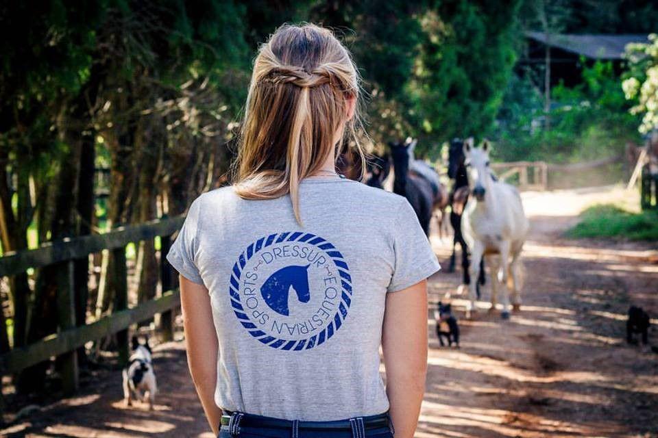 Camiseta Dressur Horsehead Cinza