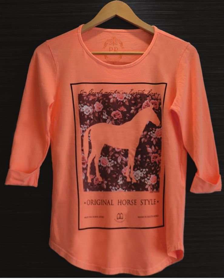 Camiseta Feminina - Keep Riding Orange