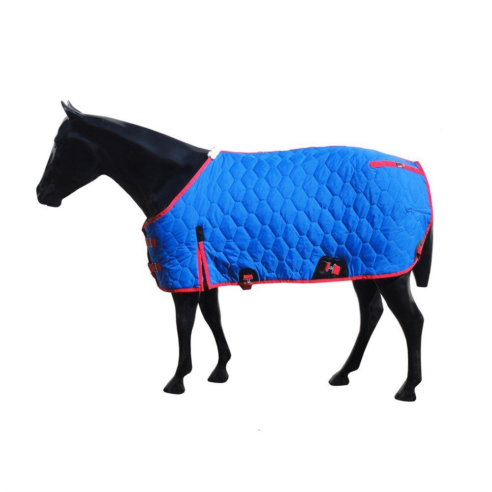 Capa de Frio Forrada Impermeável Premium Azul/Vermelho