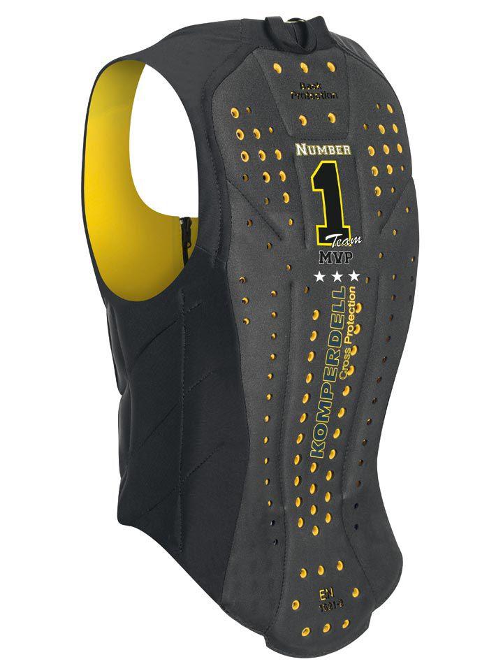 Colete Infantil Komperdell Proteção 360 graus Preto/Amarelo Unissex