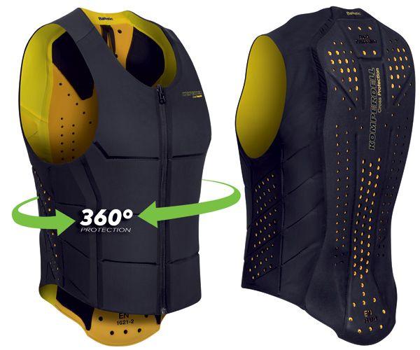 Colete Koperdell Proteção 360 graus Preto/Amarelo Unissex