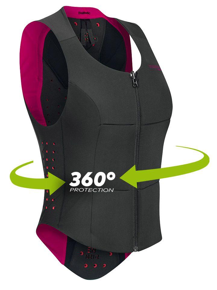 Colete Koperdell Proteção 360 graus  Preto/Rosa