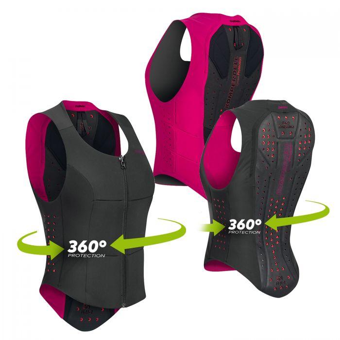 Colete Komperdell Proteção 360 graus  Preto/Rosa