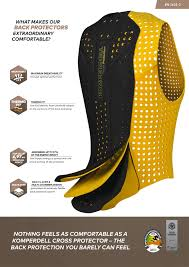 Colete Komperdell Proteção 360 graus Preto/Amarelo Unissex
