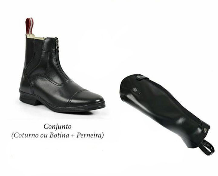 Conjunto Botina e Perneira Marrom Premium