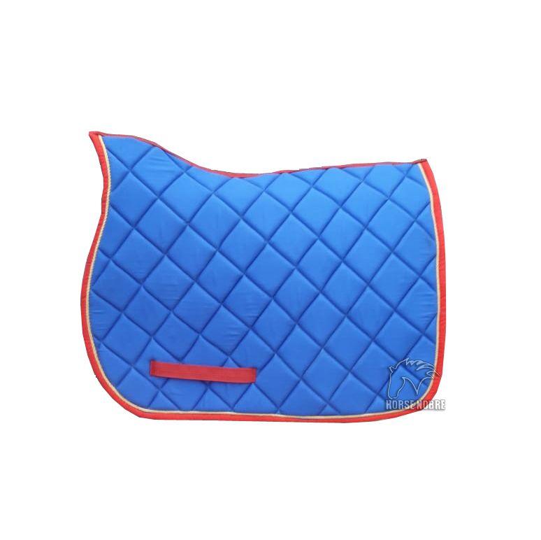 Manta de Hipismo Bi-Colors Azul Royal/Borda Vermelha
