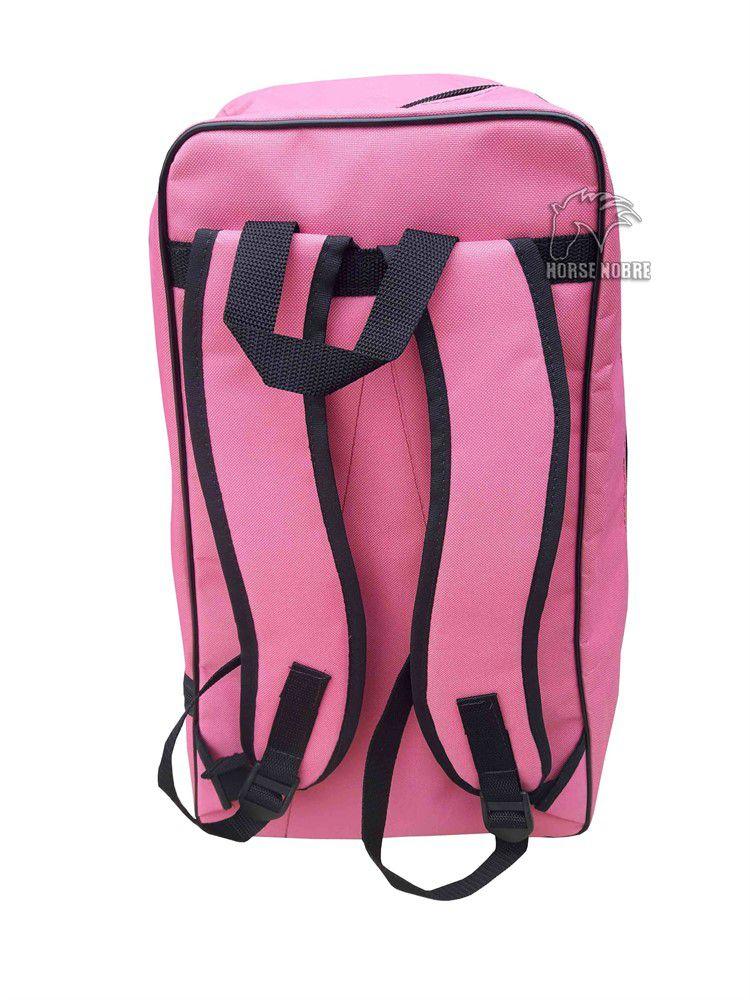Mochila Para Bota Capacete e Chicóte (Pink)