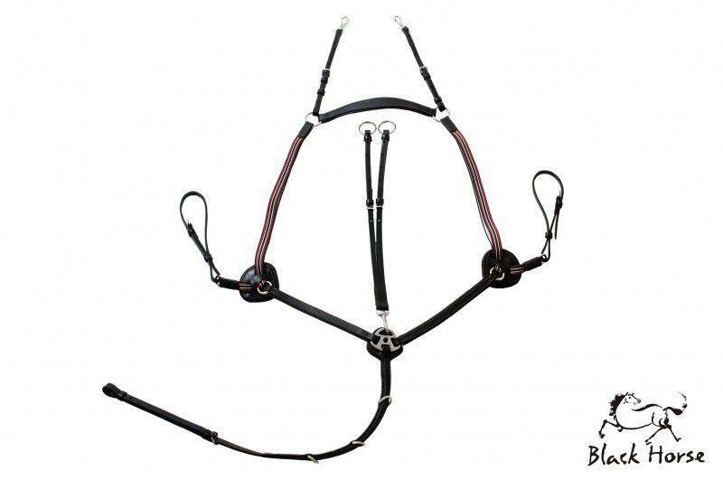 Peitoral Hipismo 5 Pontas Black Horse - Premium