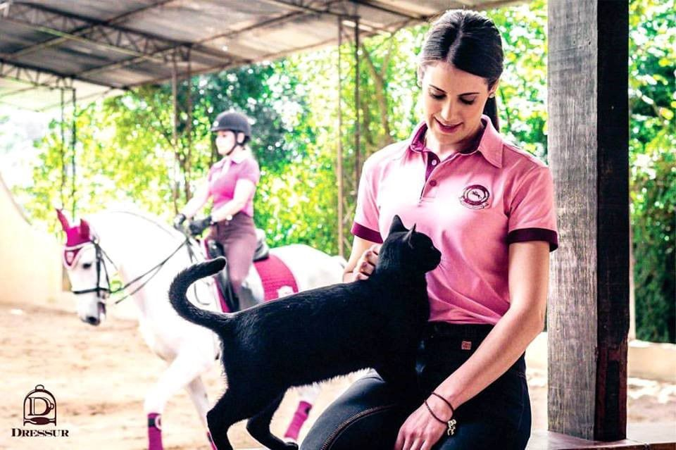 Polo Feminina Show jumping DRESSUR Rosa/Vinho